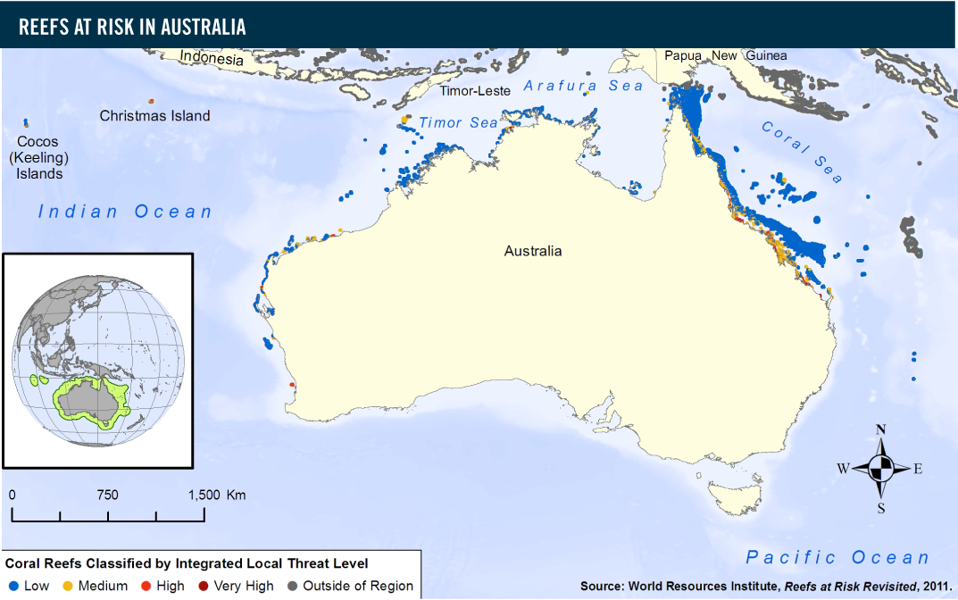 reefs at risk in australia