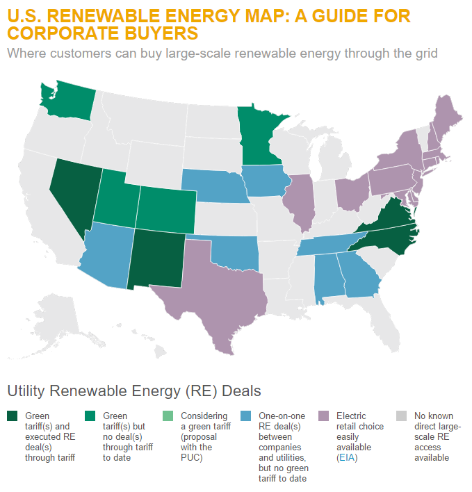 Us renewable energy map a guide for corporate buyers world us renewable energy map a guide for corporate buyers gumiabroncs Choice Image
