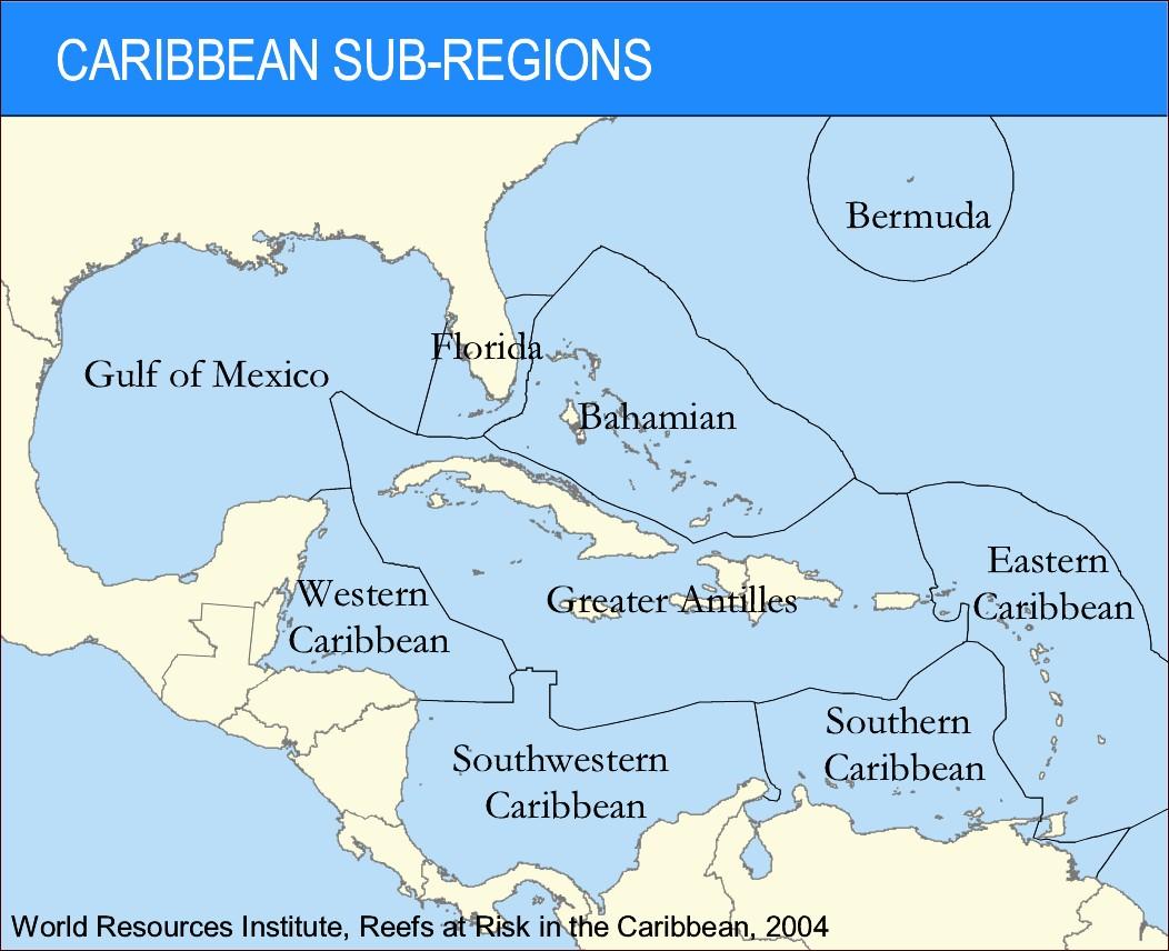 Caribbean Sub Regions World Resources Institute