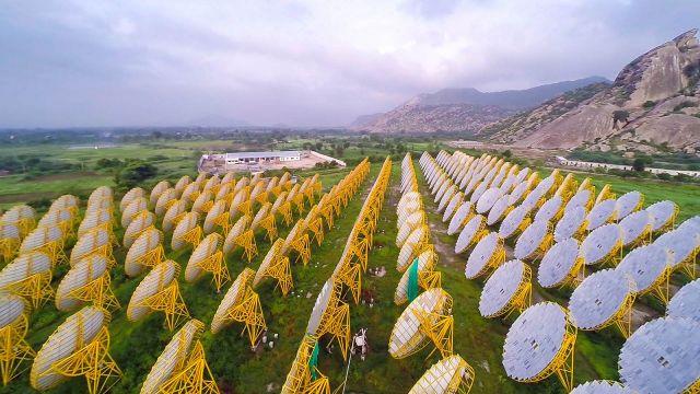The India One Solar plant. (Flickr/Brahma Kumaris)