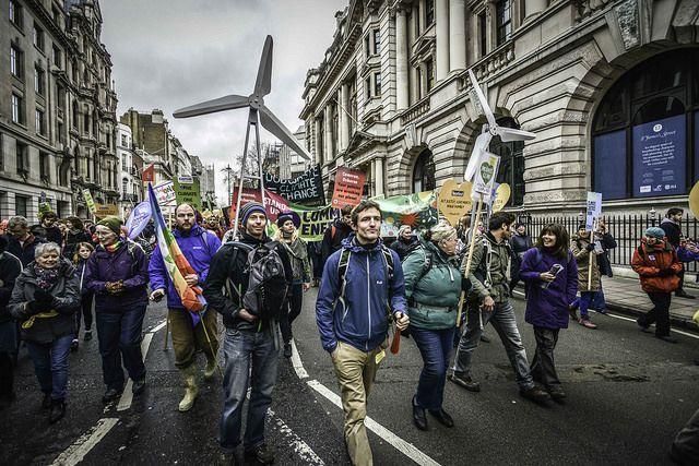 COP21 march in London