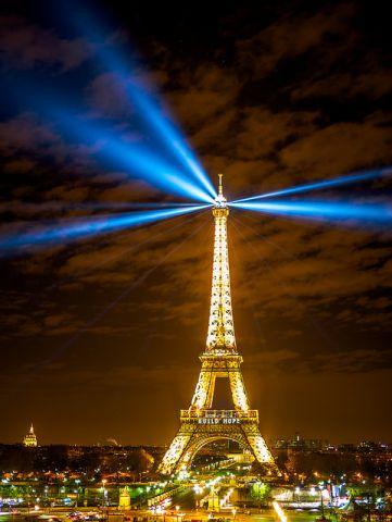 Eiffel tower at nigght