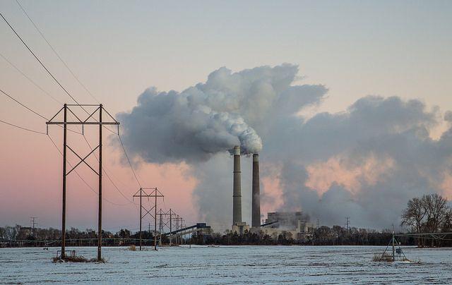 Xcel Energy's Sherburne County (Sherco) Generating Station, a coal-fired power plant, near Becker, Minnesota.