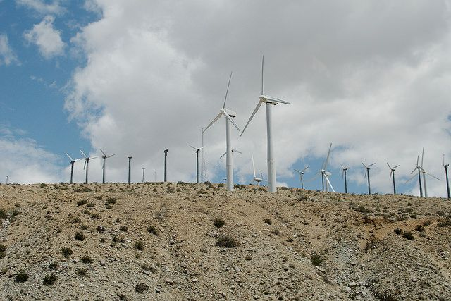 Wind turbines near Whitewater, California