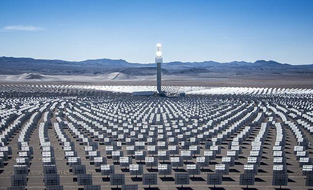Solar panels at Nevada Crescent Dunes