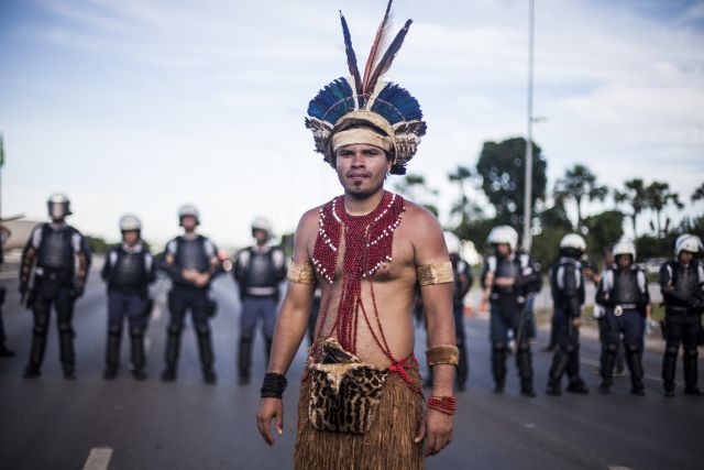 4,000 indigenous activists demonstrated for their rights in April. Flickr/Mídia NINJA