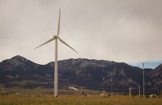 Wind turbines in Colorado