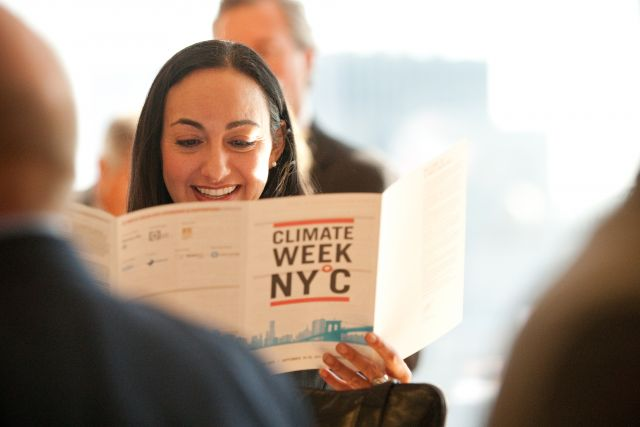 Diving into Climate Week. Flickr/The Climate Group