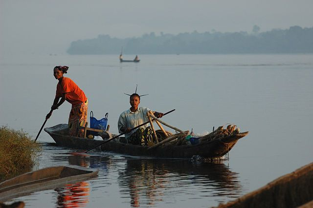 Isangi people on the Congo river