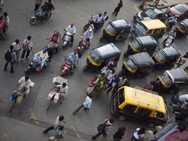 Bicycle rickshaws in Mumbai, India