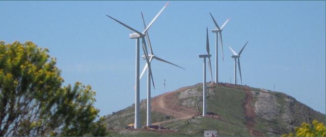 Sierra de los Caracoles wind farm in Uruguay.