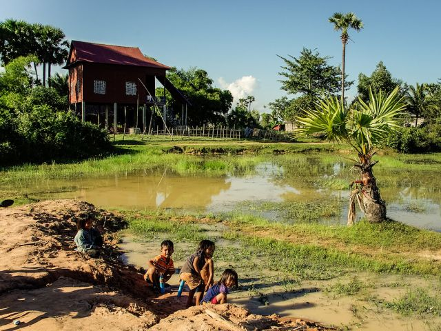 Children in Siem Reap, Cambodia