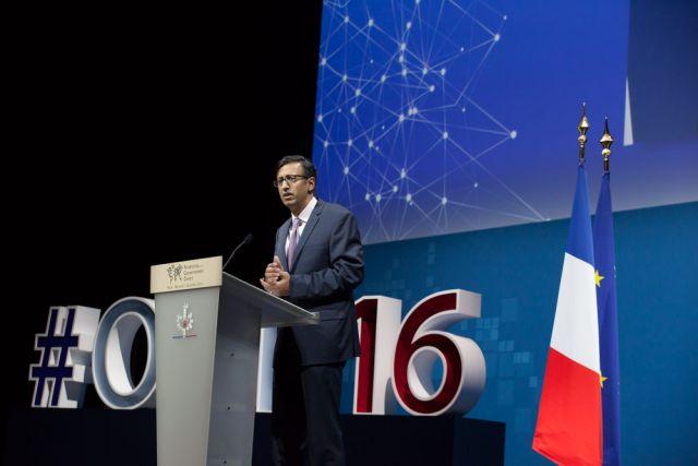 Manish Bapna addresses OGP Summit in Paris