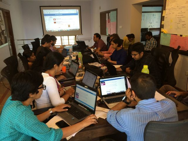 Communications training in Mumbai. Photo by Lawrence MacDonald.