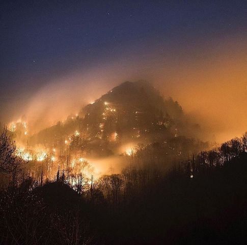 Wildfire at Great Smoky Mountains National Park