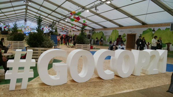 Green Zone at COP21, Paris. Credit Deborah Zabarenko