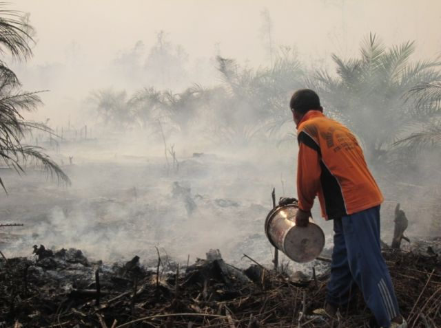 Putting out fires in Riau, March 2014. Photo by Julius Lawalata / WRI.
