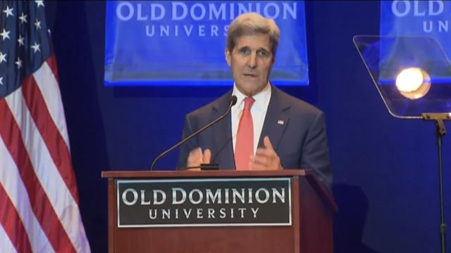 Secretary of State John Kerry laid out the connection between climate change and national security.