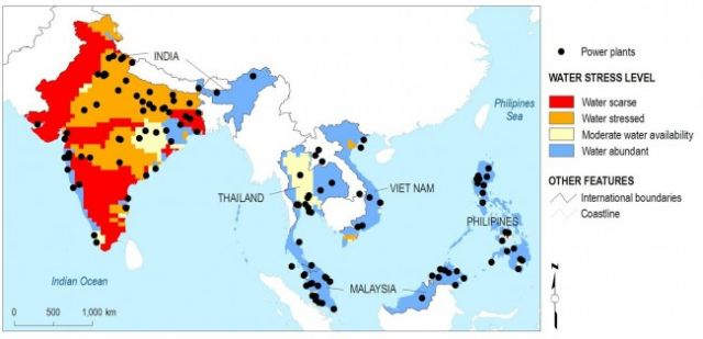 News release water shortages put asian power sector at risk world more than half of existing and planned power plants in south and southeast asia are located in areas currently considered water scarce or stressed gumiabroncs Choice Image