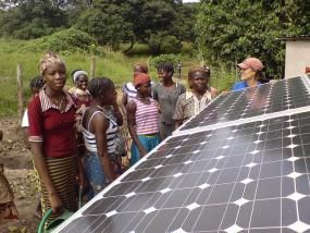 Developing countries need climate finance to mitigate climate change and adapt to its impacts. Photo credit: Solar Electric Light Fund, Flickr