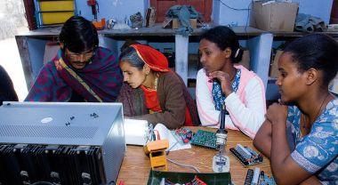 Barefoot solar engineers, Rajasthan, India