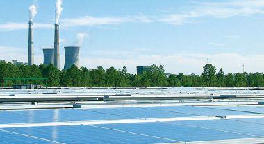 Solar panels at Curtis H. Stanton Energy Cente