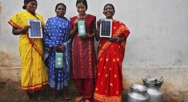 Solar engineers in Tinginaput, India