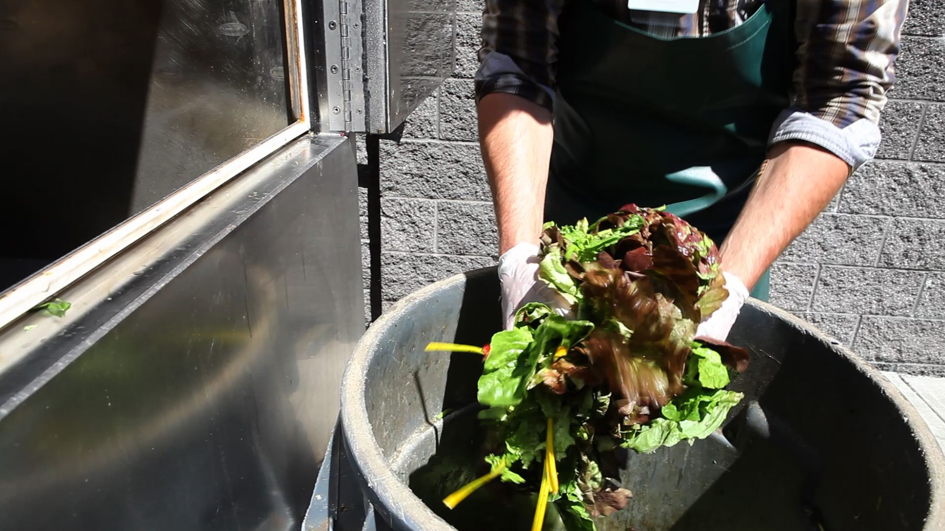 <p>Food waste can be turned into organic fertilizer. (Flickr/EarthFix)</p>