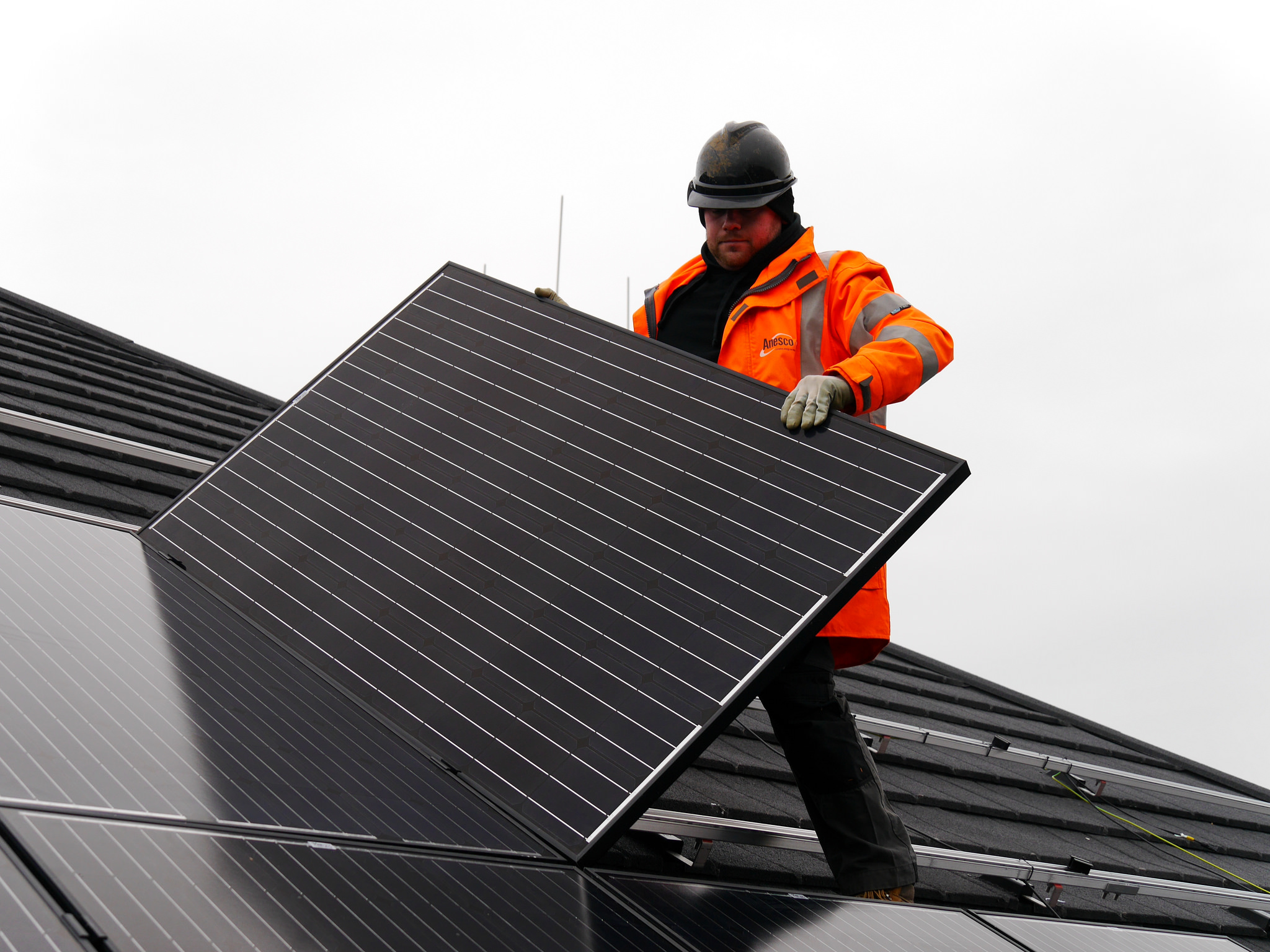 <p>Solar installation in Essex, England. Flickr/Epping Forest District Council</p>