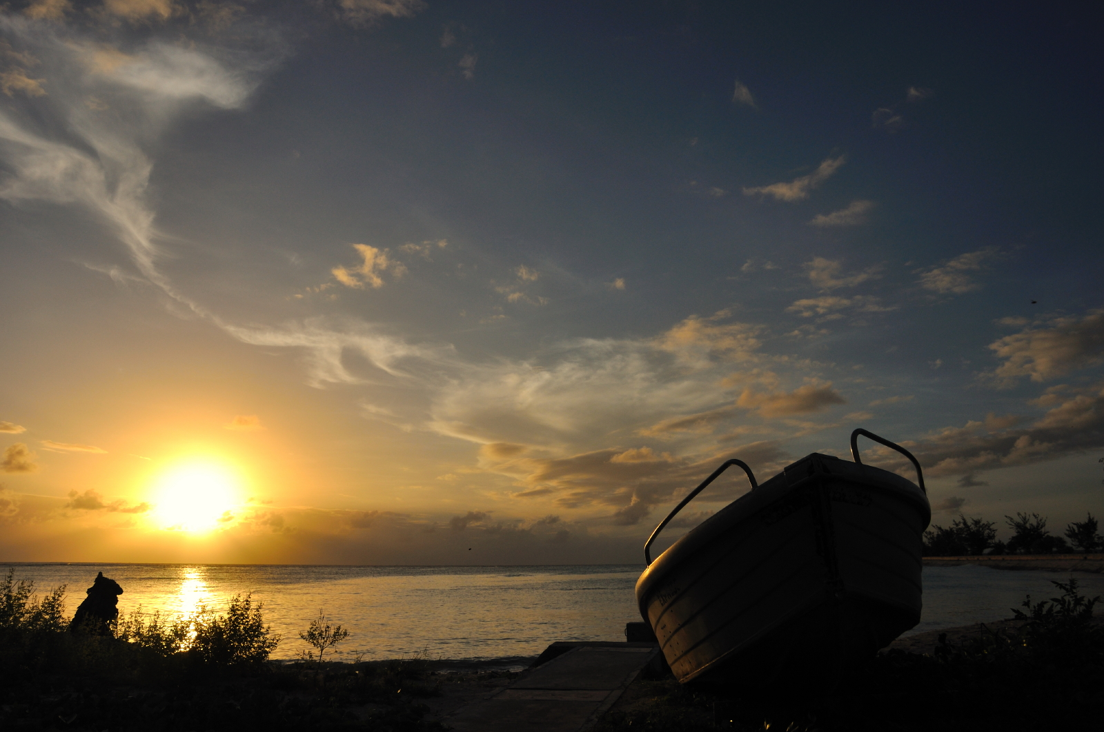 <p>Kiribati at sunset—or dawn. (Flickr/jopolopy)</p>