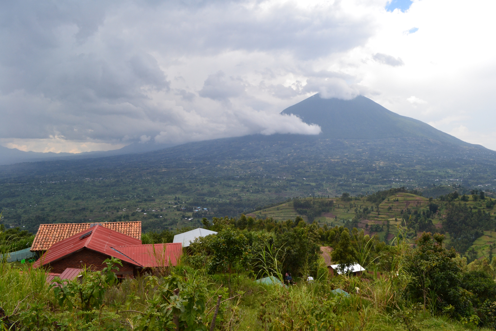 <p>Mount Muhavura viewed from Virunga Lodge. Photo by Francois Terrier/Flickr</p>