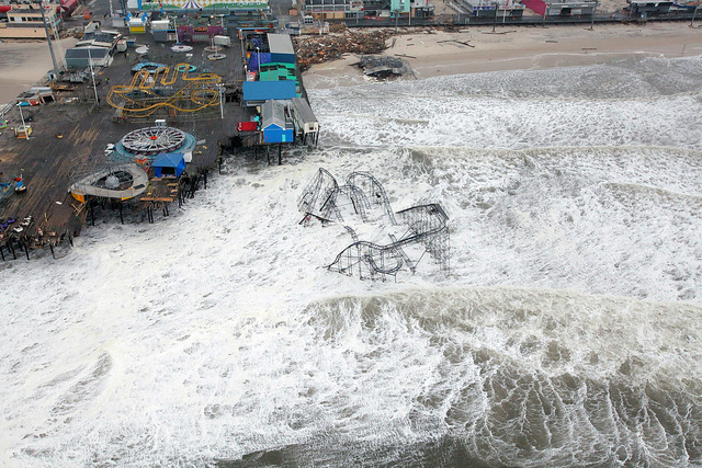 <p>Damage caused to New Jersey shore by Hurricane Sandy. Photo by Master Sgt. Mark C. Olsen/U.S. Air Force</p>