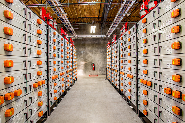 <p>The energy storage system at Portland General Electric. Flickr/Portland General Electric</p>