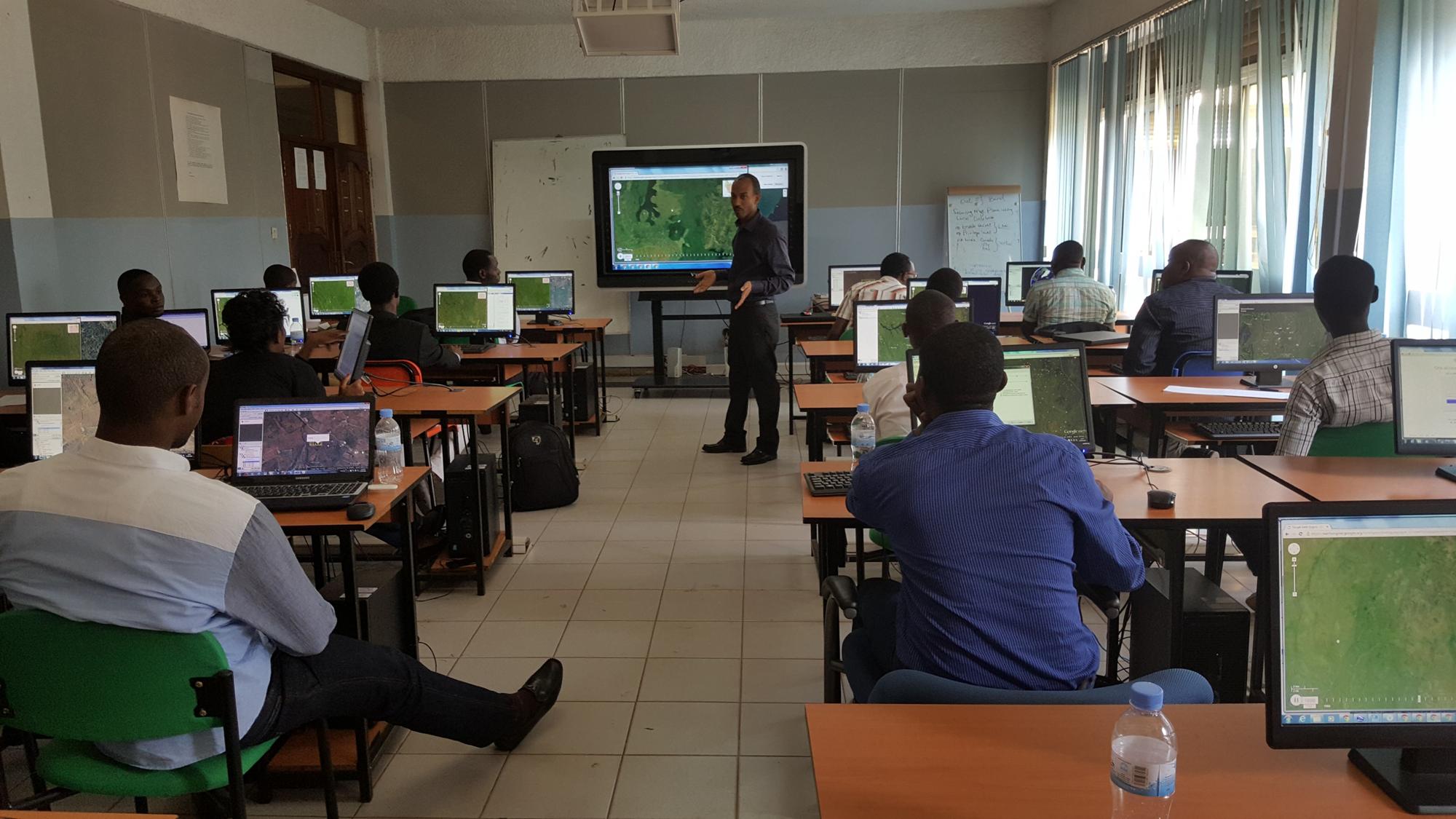 <p>Collect Earth Map-a-thon Event in Gatsibo, Rwanda.</p>