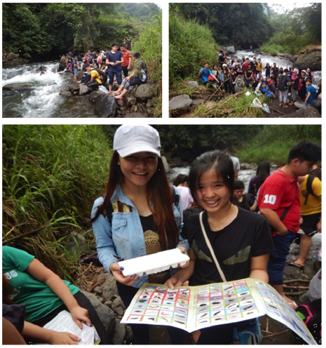 <p>Students identify plant and animal species with ECOTON in the Brantas watershed.</p>