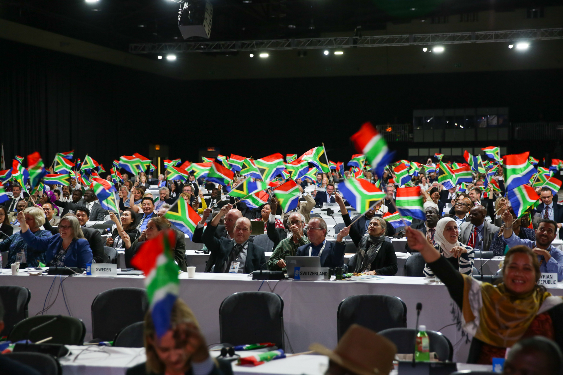 <p>Participants at the COP-17 meeting in Johannesburg, South Africa.</p>