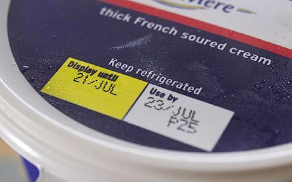 "<p>This label has both a ""display until"" and ""use by"" date, making it confusing for the consumer to know which label is relevant. (Food Waste Network)</p>"