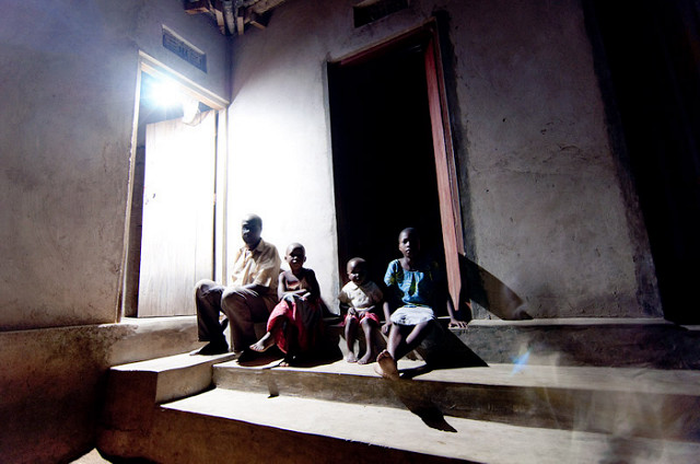 <p>Solar-powered lighting in Tanzania. Photo by Angaza/Flickr</p>