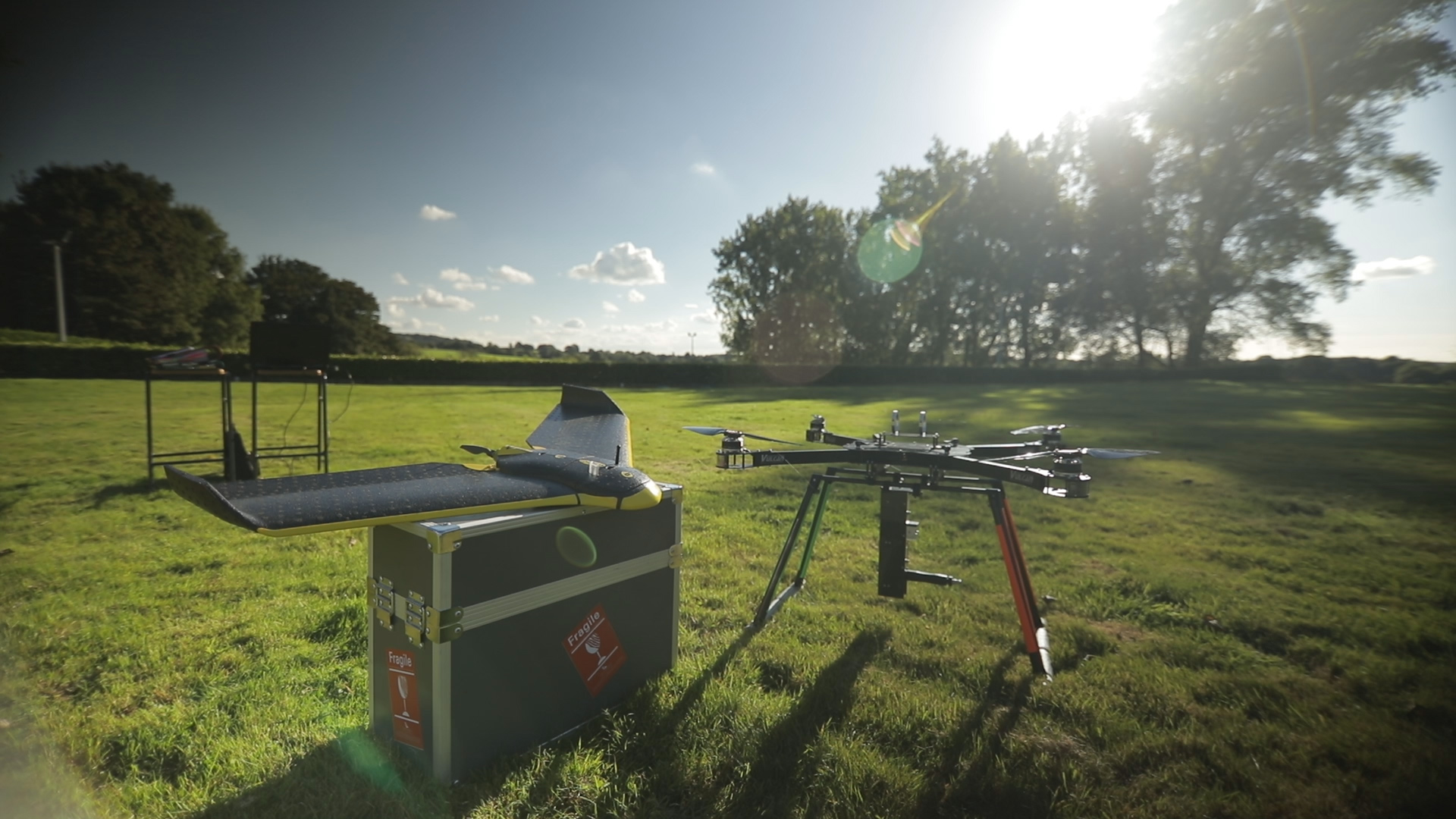 <p>BioCarbon's drone on a test site. Source: BioCarbon Engineering</p>