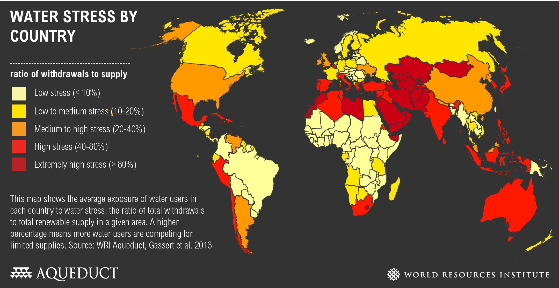 Water stress by country world resources institute gumiabroncs Image collections
