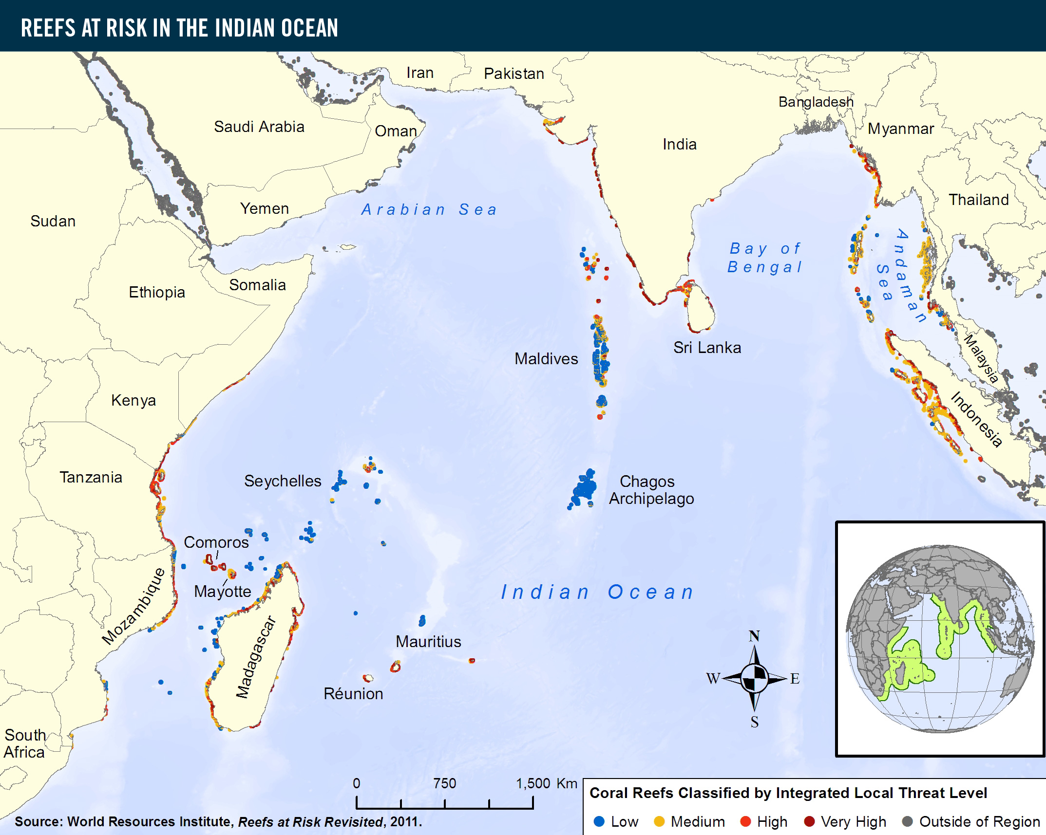 Reefs at risk in the indian ocean world resources institute download hi res version view global map gumiabroncs Image collections