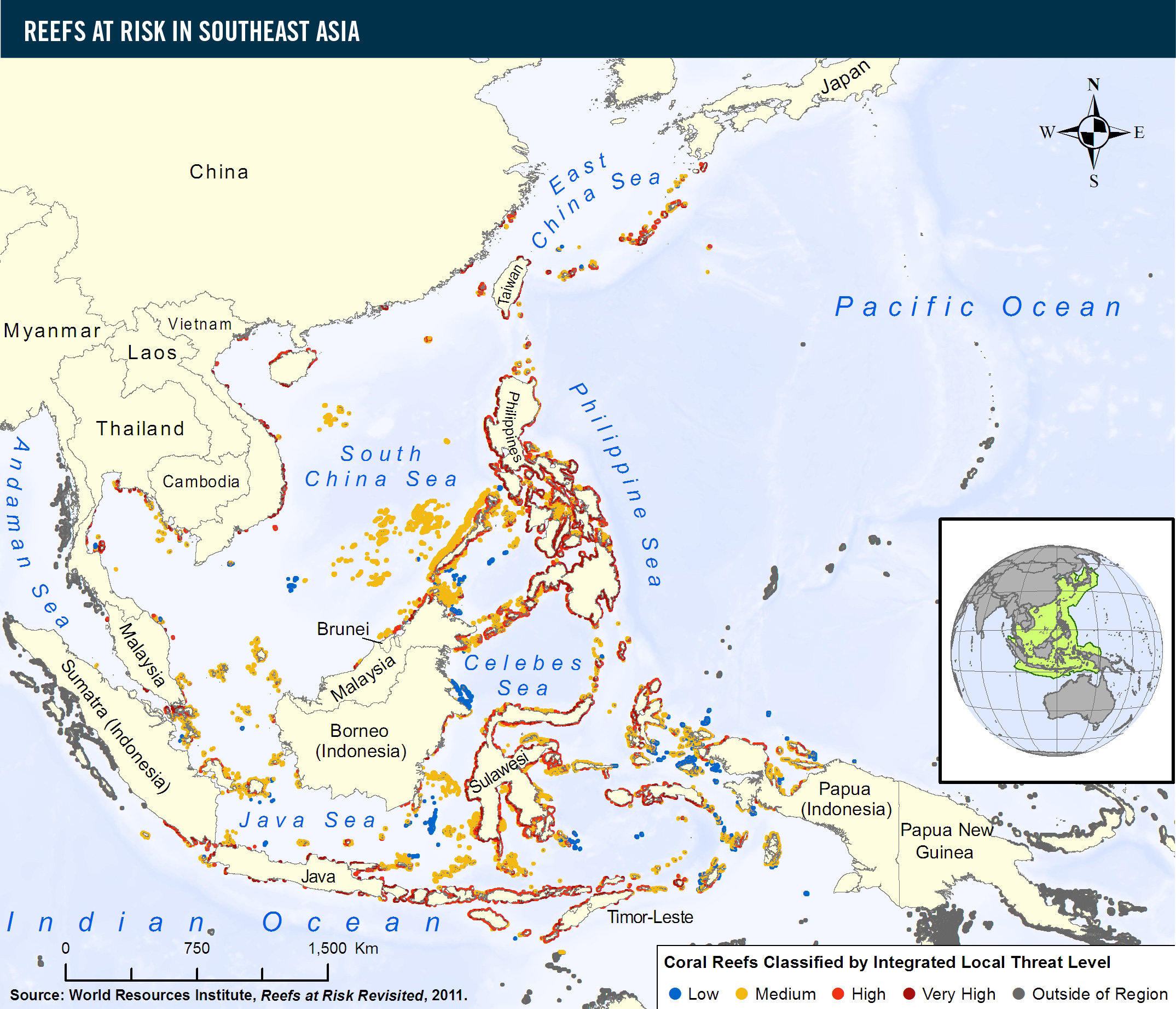 Reefs at Risk in Southeast Asia | World Resources Institute