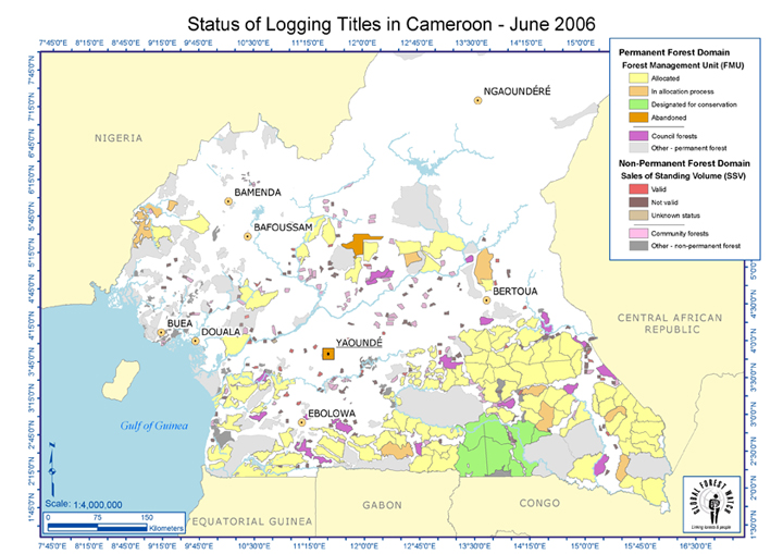 Cameroon: Logging Titles 2006 | World Resources Institute