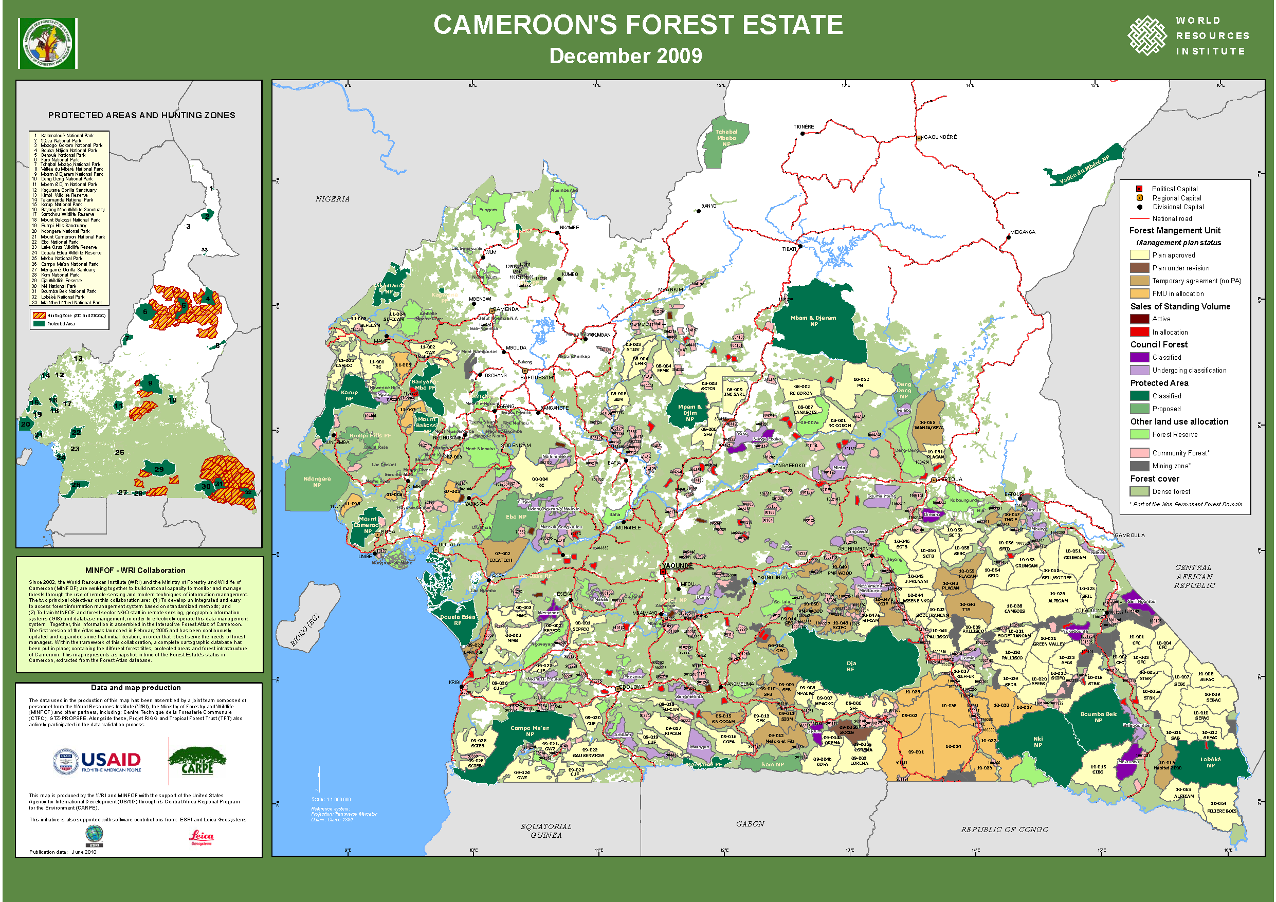 Cameroon: Forest Land Allocation 2009 | World Resources Institute