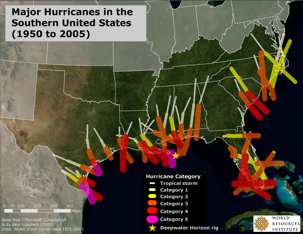 A Storm Warning for the Deepwater Horizon Spill: Major Hurricanes in ...