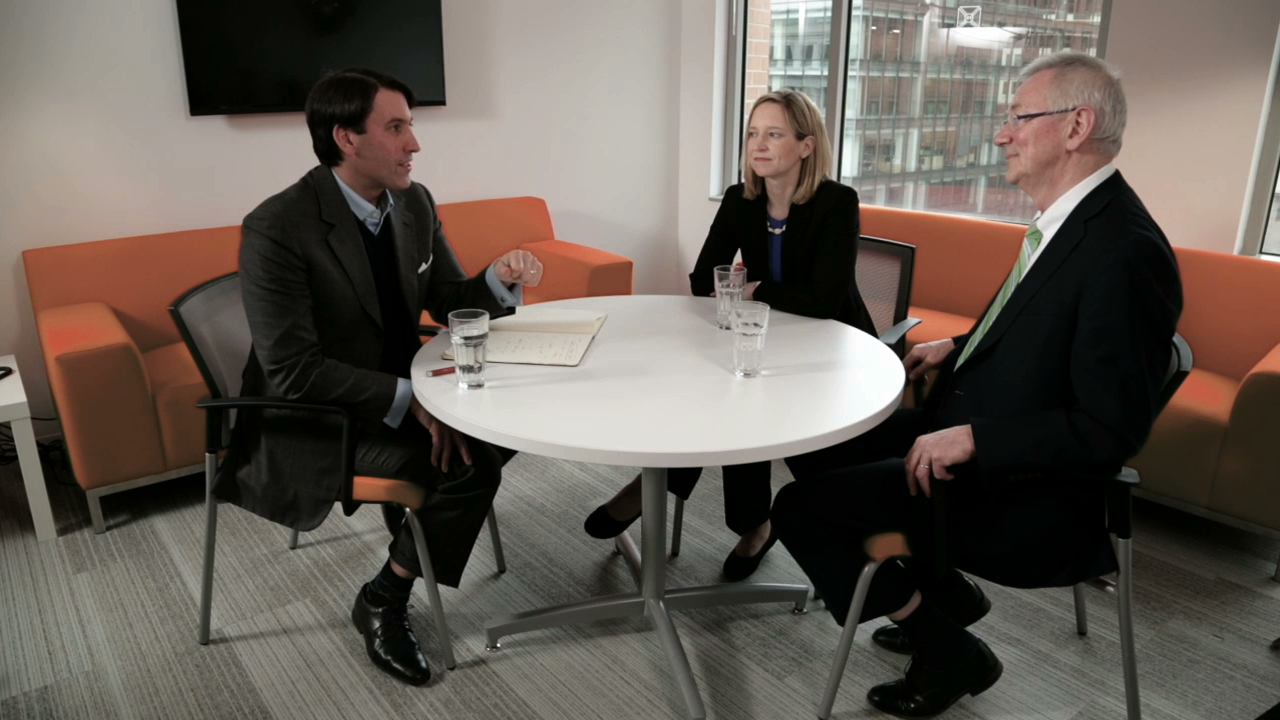 <p>right to left: Andrew Steer, Elizabeth Lewis, and John Goldstein</p>