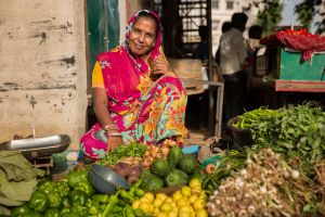 Choral Mauladia, a street vendor and trade unionist in Ahmedabad. Photo: Getty Images Reportage.