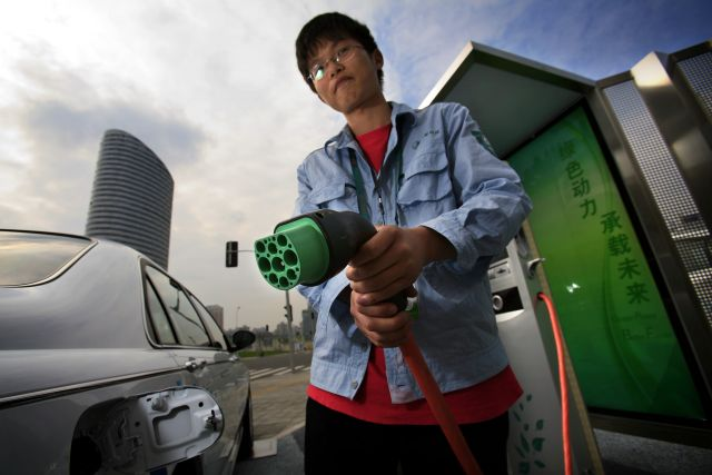 China's electric vehicle market is burgeoning. Flickr/The Climate Group