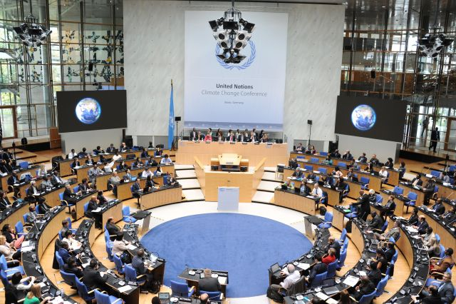 Bonn climate conference in 2014. Flickr/UN Climate Change