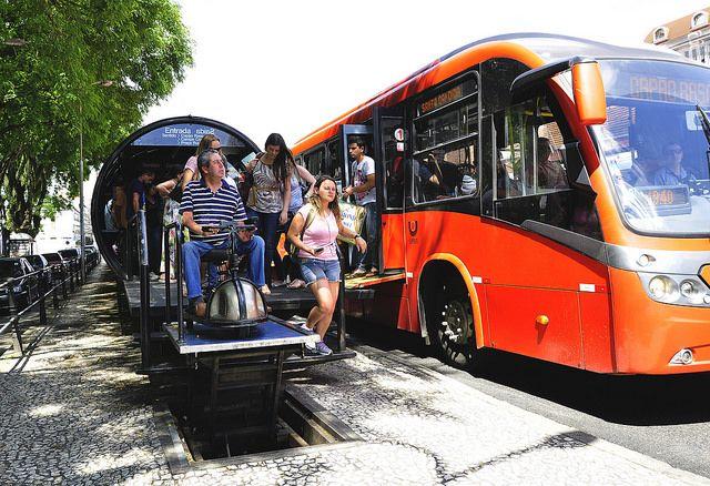 Bus rapid transit (BRT) in Curitiba, Brazil